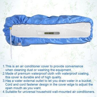 TMISHION Air Conditioner Cleaning Dust Washing Cover WaterproofProtector (Blue Color L) - intl - 5
