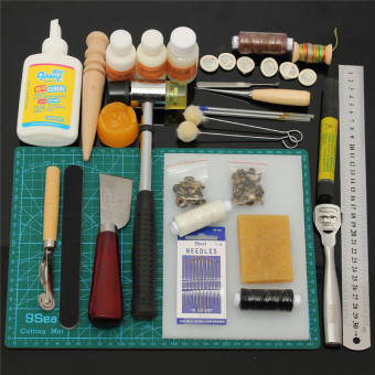 Tools Leather Craft Tool Kit Leather Hand Sewing Tool Set Professional - Intl - 4