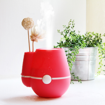USB Flower Vase Home Office 220ml Air Mist Purifier Humidifier Rose Red - picture 2