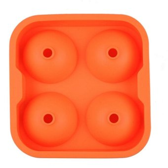 Whiskey Silicone Ice Cube Ball Maker Mold Sphere Mould Party TrayRound Bar (Orange) - intl - 2