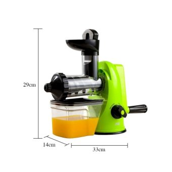 XBootsMalone Manual Slow Juicer (Green) - 5