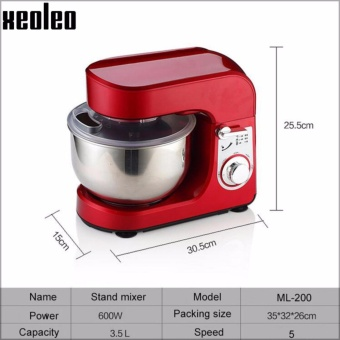 Xeoleo 3.5L Stand mixer Food mixer 600W Dough kneading machine hoursehold Egg beater suitable for milk/cream/all Fillings Mixer - intl - 4