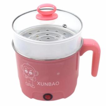 XUNBAO Stainless Steel Electric Cooker Boiler (Pink) - 3