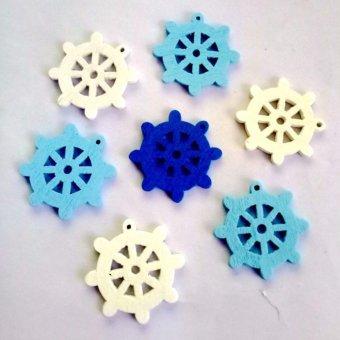 Yika 100pcs Anchor Rudder Sewing Wooden Buttons Craft Accessories Decorative Buttons - intl - 3