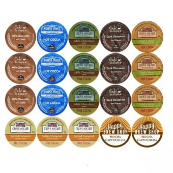 20-count TOP BRAND HOT COCOA K-Cup Variety Sampler Pack,Single-Serve Cups for Keurig Brewers