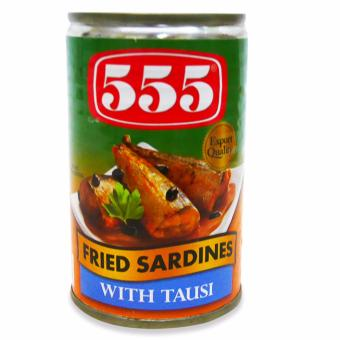 555 Fried Sardines w/ Tausi 155g 9's 200675 - 2