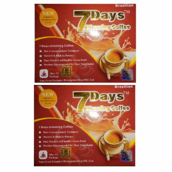 7 Days Brazilian Slimming Coffee Box Of 12 Sachets By 2s