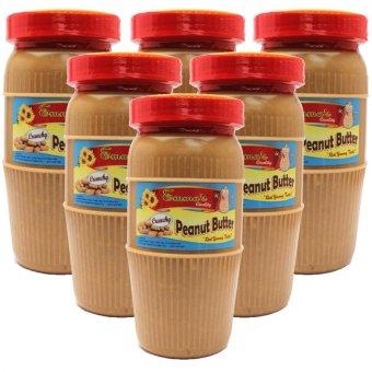 Baguio Emmas Crunchy Peanut Butter Tall Bottle of 6