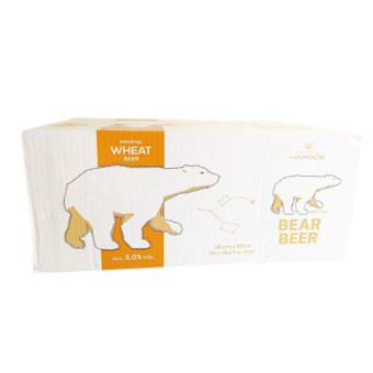 Bear Beer Wheat 5% Can 500ml Set of 24