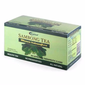 Carica Sambong (Blumea balsamifera) Tea - Box of 30 Tea bags (2g per tea bag)