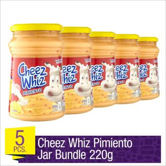 Cheez Whiz Spread Pimiento 220g Jar Bundle- Set of 5