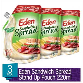 Eden Sandwich Spread 220ml Stand up Pouch- Set of 3