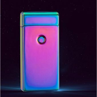 Electronic echargeable Windproof Double Arc Lighter Classy Retro(multicolor) - 2