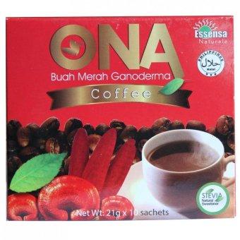 Essensa Naturale Ona Buah Merah Ganoderma Coffee 10 Sachets