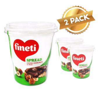 Fineti Hazelnut Spread with Cocoa 400g (Pack of 2)
