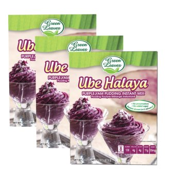 Green Leaves Purple Yam and Coconut Instant Dessert- Ube HalayaPudding Instant Mix 380g x 3pcs Price Philippines