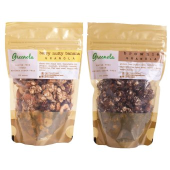 Greenola Berry Nutty Banana + Brownie Granola Set of 2