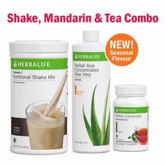 Herbalife Breakfast Pack (Cookies & Cream Set) Shake, Mandarin & Tea 50g