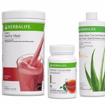 Herbalife Breakfast Pack (Wild Berry Set) Shake, Aloe & Tea