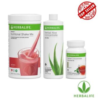 Herbalife Meal Replacement Pack (Wild Berry Shake, Aloe and Tea)