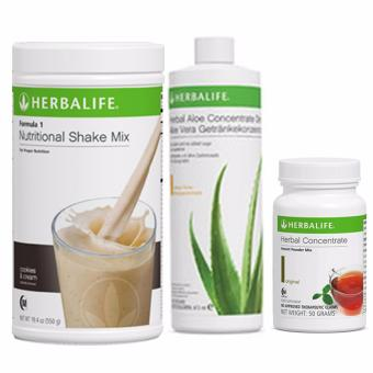 Herbalife Meal Replacement (Shake, Aloe Mango & Tea 50g) COOKIES AND CREAM