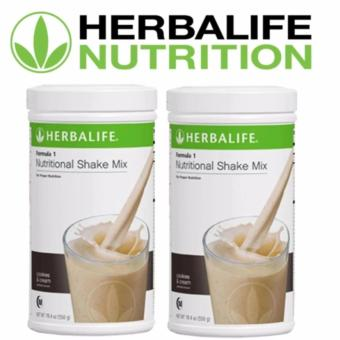 Herbalife Nutritional Shake Cookies & Cream Canister Set of 2 (NEW FLAVOR)
