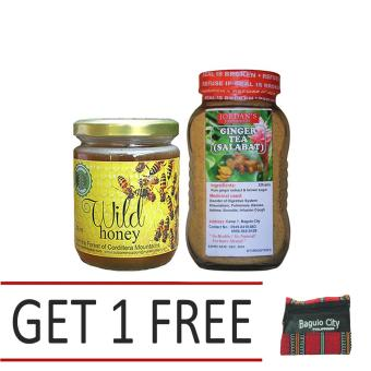 Natural Wild Raw Honey Bundled with Organic Ginger tea Get 1 Free Baguio Coin Purse Price Philippines