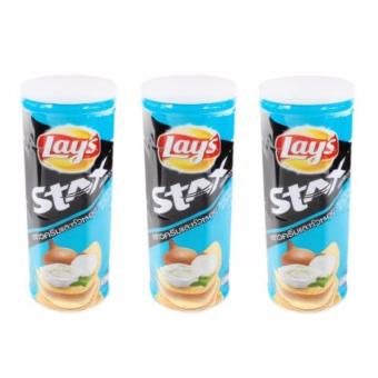 Harga LAY'S Stax Sour Cream & Onion 100 grams (SET OF 3)