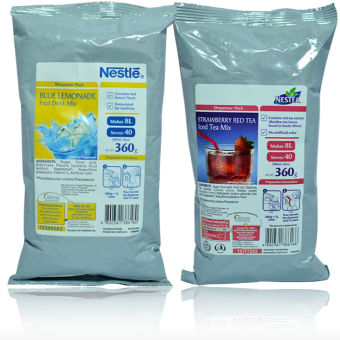Nestle Blue Lemonade & Strawberry Red Tea Drink Mix Price Philippines
