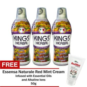REH Kings Herbal 3 Bottles with FREE Essensa Natural Red Mint Liniment Cream 50g Price Philippines