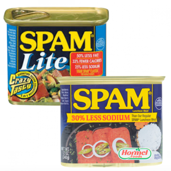 Harga Spam Lite and Less 30% Sodium Luncheon Loaf