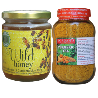 Natural Wild Honey Bundled with Natural Turmeric Tea Price Philippines