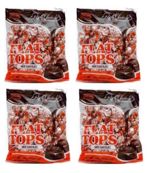 Ricoa FlatTops Chocolate 500g (approx 100 pcs) Set of 4 Price Philippines