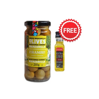 Harga La Rambla Green Whole Olives 235g with FREE La Rambla Extra Virgin Olive Oil 20ml