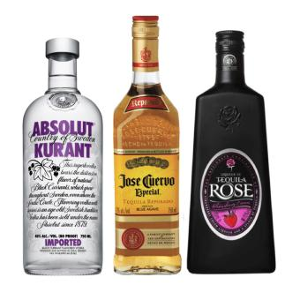 Party Pack Liquor (Jose Cuervo, Tequila Rose and Absolut Kurant Vodka) - 750ml Price Philippines