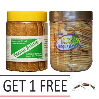 Good Shepherd Peanut Brittle 500g Bundled With Baguio Ricos Lengua With Free Baguio Keychain Price Philippines