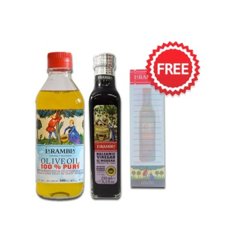 La Rambla Pure Olive Oil 500ml + La Rambla Balsamic Vinegar 250ml + FREE NOTEPAD Price Philippines