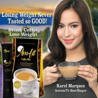 Harga Lose Weight without Exercise Am-Fit Coffee Mix w/ Garcinia Cambogia and African Mango