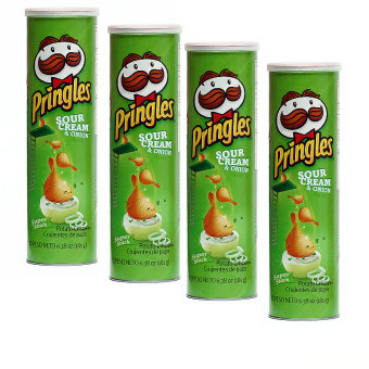 Harga Pringles Sour Cream and Onion (Pack of 4)
