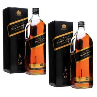 Johnnie Walker Black Label 12 Year Old Magnum 3 Litres, Set of 2