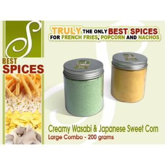 Large Combo Creamy Wasabi & Japanese Sweet Corn Best SpicesFlavor powder French Fries popcorn nachos flavorings 200gramsseasoning