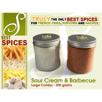 Large Combo Sour Cream and Barbecue Best Spices Flavor powderFrench Fries popcorn nachos flavorings 200grams seasoning