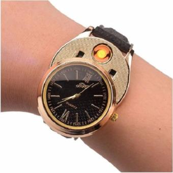 Luxury Classy Watch Electronic Lighter (Gold/Black)