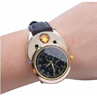 Luxury Classy Watch Electronic Lighter (Gold/Black) - 2