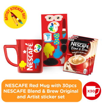 NESCAFE Blend & Brew Original 30 sachets with FREE NESCAFE Red Mug (Article Sticker Set) Price Philippines