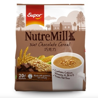 Nutre Mill 3In1 Chocolate Cereal Drinks 30G X 20 Sachets With Free Arm & Hammer Fridge-N-Freezer Baking Soda 14Oz (396.8G)