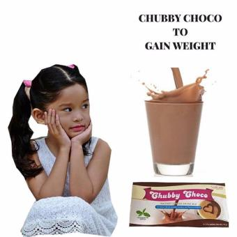 (Pack of 12) Memory Enhancer Skinny Sakura Chubby Choco Instant Cocoa Drink Mix for Weight Gain 15g (5 sachets)
