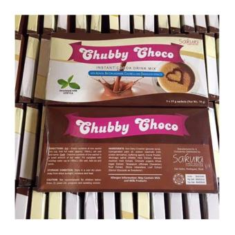 (Pack of 3) Be Energetic Skinny Sakura Chubby Choco Instant Cocoa Drink Mix for Weight Gain 15g (5 sachets)