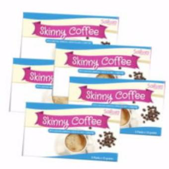 Sakura Skinny Coffee Instant Drink Mix With L-Carnitine,GarciniaGambodia And Green Tea Extract 5sachers Set Of 5
