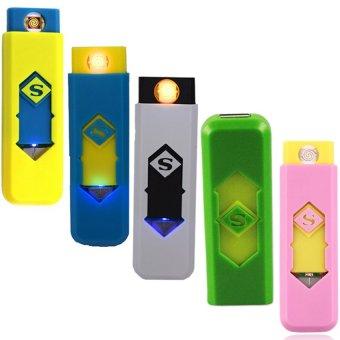 SML-606 Smart Electronic Lighter (Yellow,Blue,White,Yellow-Green,Light-Pink) Set of 5